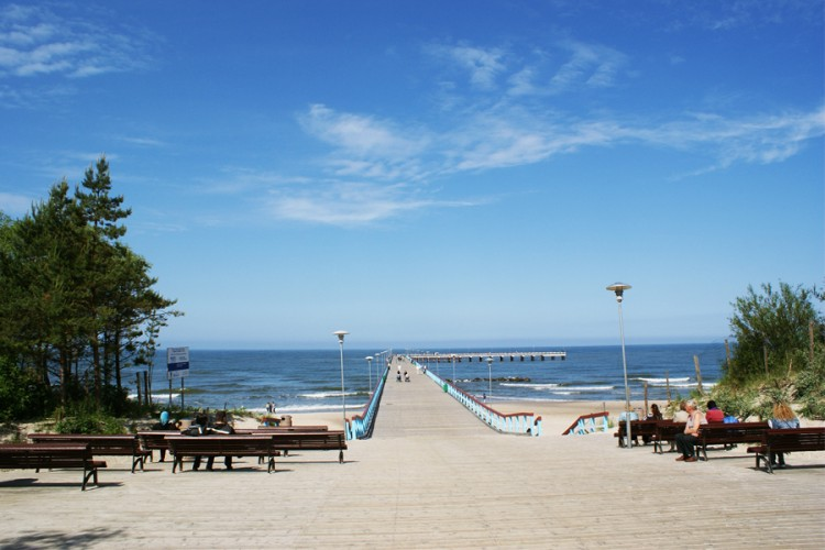 Holiday In Palanga At The Baltic Sea In Lithuania